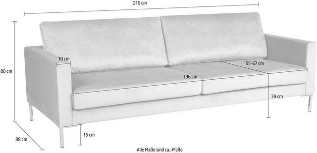 Sofas - Alte Gerberei 3 Sitzer »Velina« mit Metall Winkelfüßen  - Onlineshop OTTO