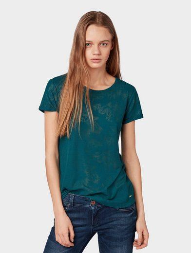 TOM TAILOR Denim T-Shirt »Gemustertes T-Shirt«
