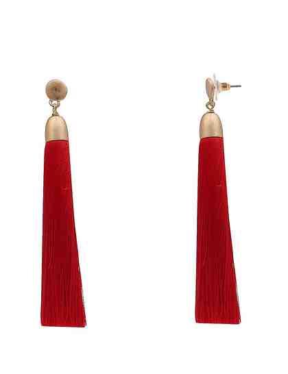 leslii Ohrhänger mit eleganter Textil-Bommel