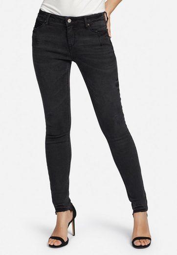 khujo 5-Pocket-Jeans »EMBER WASHED BLACK« im Slim Fit mit Destroyed-Details
