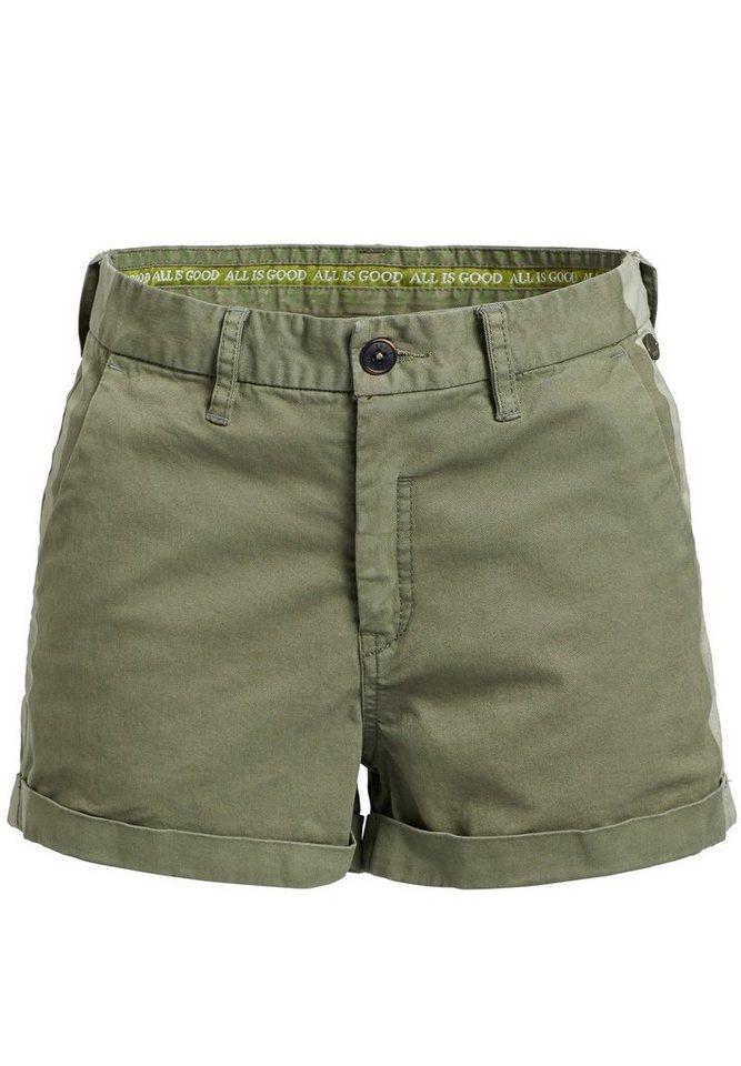 khujo Hotpants »ABRIL STRIPE« mit Galonstreifen | Bekleidung > Hosen > Hotpants | Grün | khujo