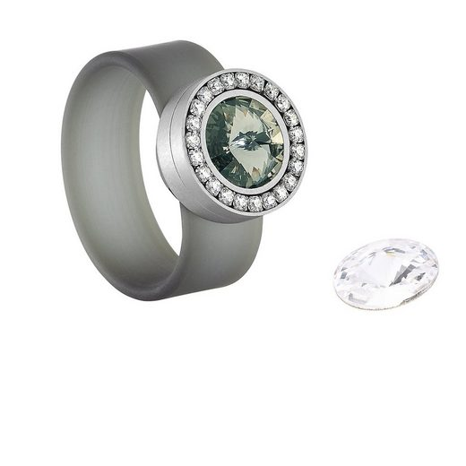 Heideman Fingerring »Colori Black Diamond« (1-tlg), mit Kristall Austauschbar
