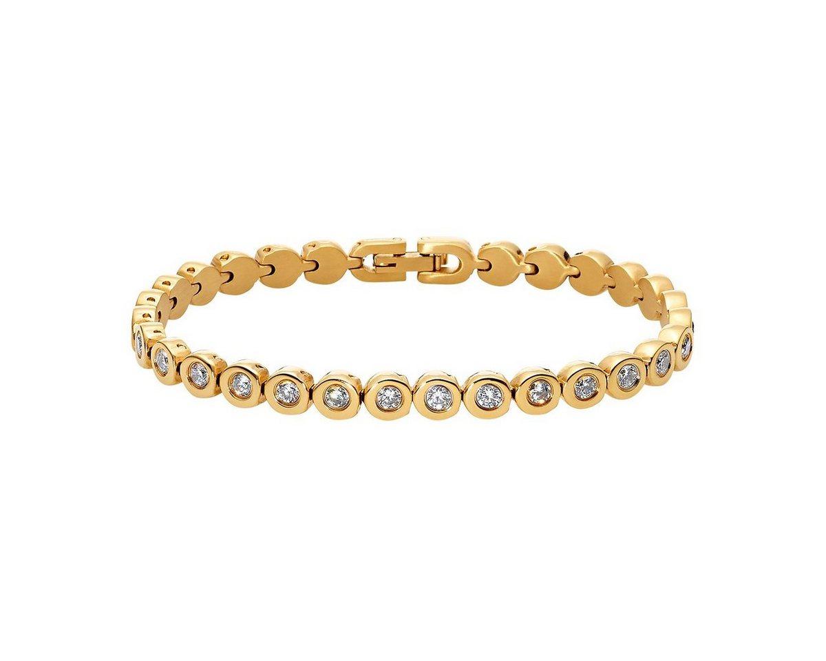 Heideman Armband »Amilla S Gold« Tennisarmband mit Swarovski Stein weiß Gliederarmband   Schmuck > Armbänder > Goldarmbänder   Goldfarben   Heideman