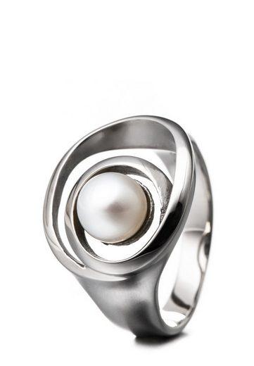Heideman Perlenring »Spiralring Poliert«, Perlenring mit echter Süßwasserperle