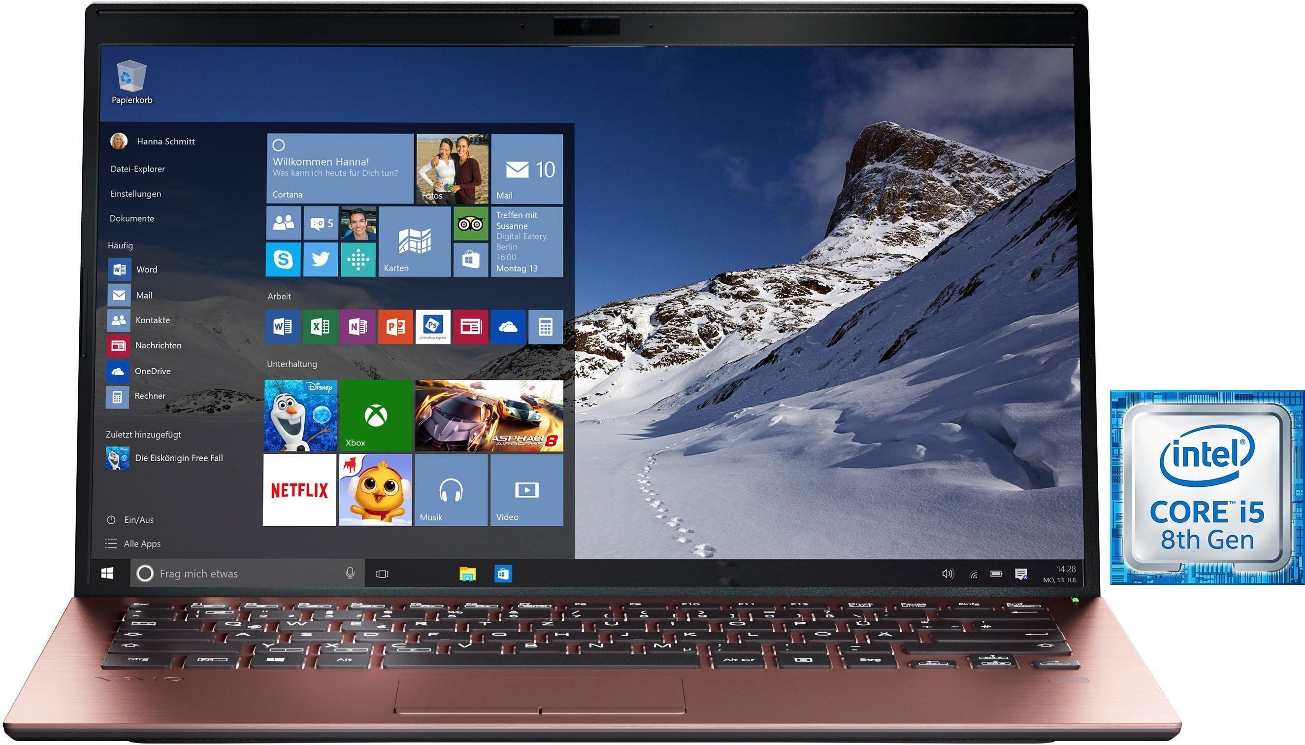 SX14 Notebook (35,56 cm/14 Zoll, Intel Core i5, 256 GB SSD, Windows 10 Professional, Anti-Glare Full HD IPS Display, Carbon Chassis, TPM 2.0,