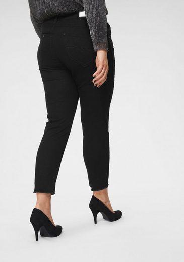 Blue Monkey Skinny-fit-Jeans seitliche Glitzerbänder