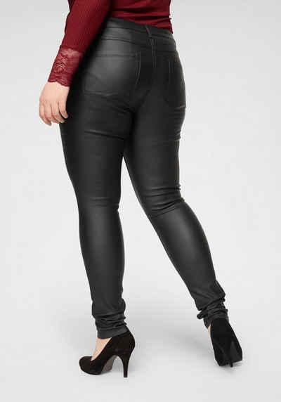ONLY CARMAKOMA Skinny-fit-Jeans »Punk« mit edel glänzender Beschichtung