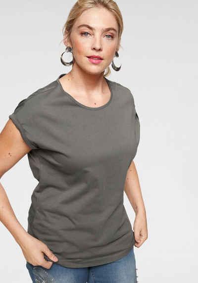 Boysen's T-Shirt mit überschnittenen Schultern & kleinem Ärmelaufschlag