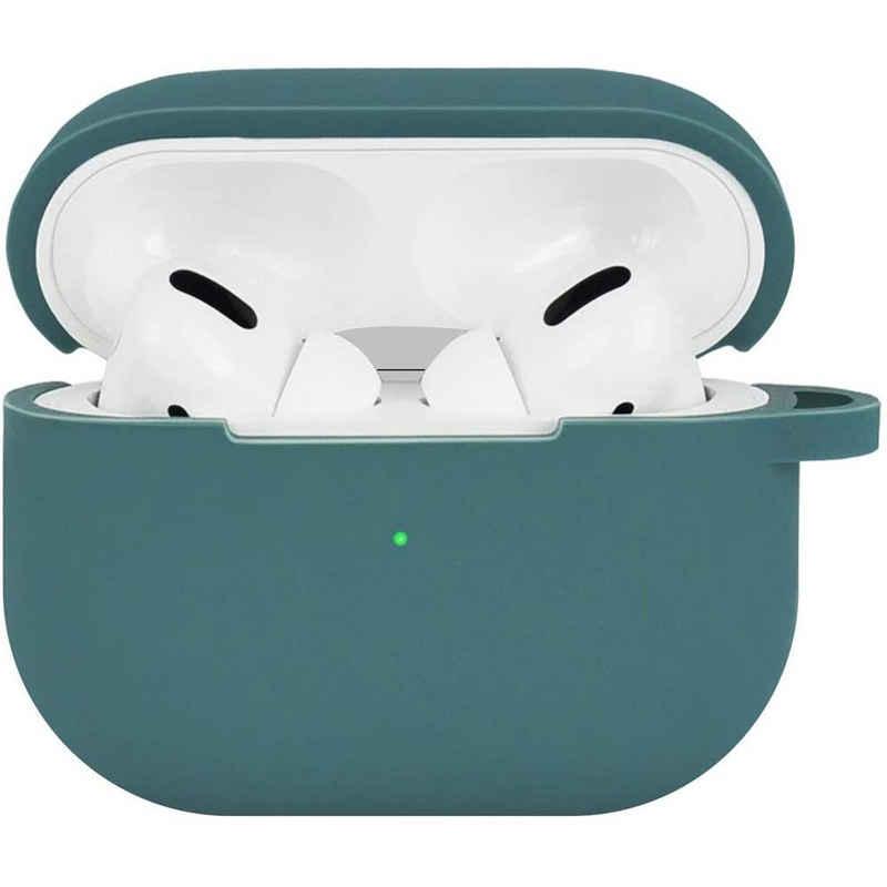 Terratec Kopfhörer-Schutzhülle »AirBox Pro - Airpods Kopfhörer Schutzhülle, Case, Cover, Hülle, Etui«, rün, Midnight Green - 329934