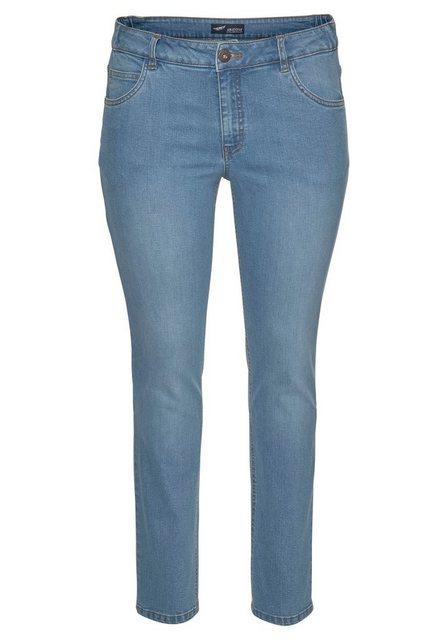 Hosen - Arizona Slim fit Jeans »Svenja Bund mit seitlichem Gummizugeinsatz« High Waist › blau  - Onlineshop OTTO