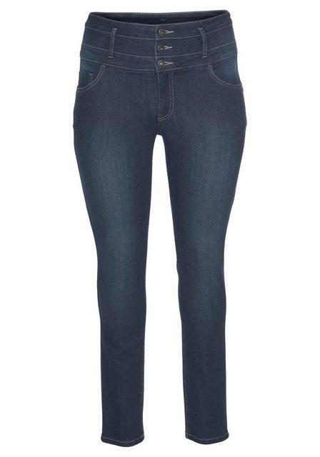 Hosen - Arizona Slim fit Jeans »mit extra breitem Bund« High Waist › blau  - Onlineshop OTTO