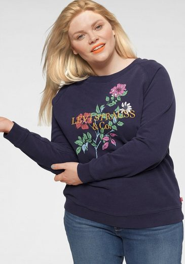 Levi's® Plus Sweatshirt »Plus Relaxed Graphic Crew« mit Stickerei und Print