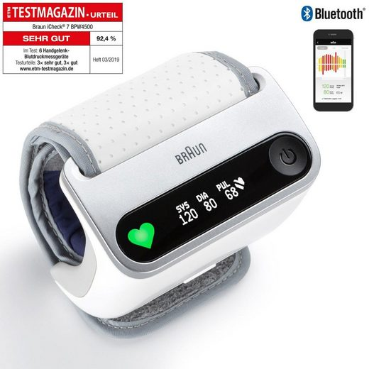 Braun Handgelenk-Blutdruckmessgerät BPW4500 iCheck® 7