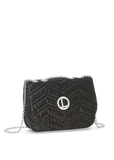 LASCANA Umhängetasche, Minibag mit Steppung aus Samt