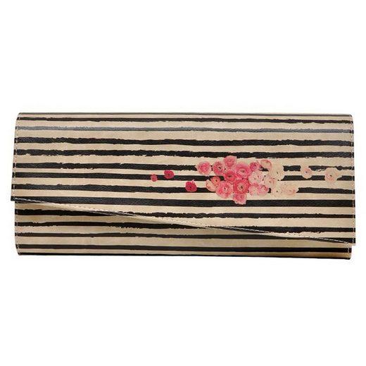 DOGO Clutch »roses on stripes«, Vegan