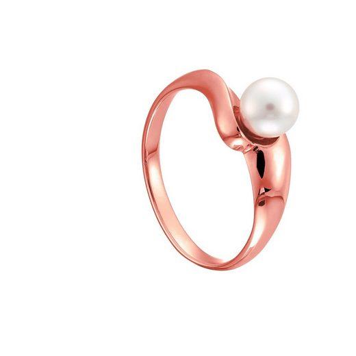 Heideman Perlenring »Perlepide Rosevergoldet« Damenring mit Swarovski Perle