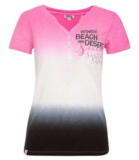 SOCCX T-Shirt mit Knopfleiste