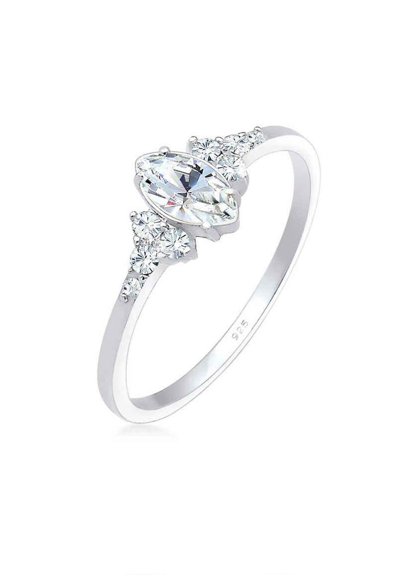Elli Verlobungsring »Kristalle Marquise Design 925 Silber«