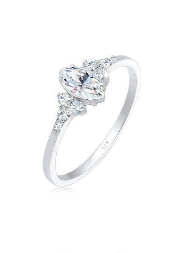 Elli Fingerring »Kristalle Marquise Design 925 Silber«