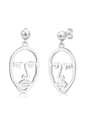 Elli Paar Ohrhänger »Ohrhänger Gesicht Design Blogger Trend 925 Silber«