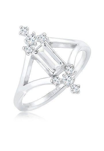 Elli Fingerring »Verlobung Liebe Vintage Topas Edelstein 925 Silber«