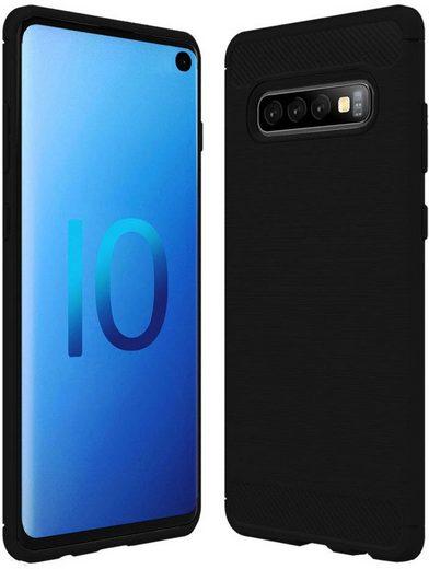 PEDEA Handytasche »Carbon Look Case für Samsung Galaxy S10e«