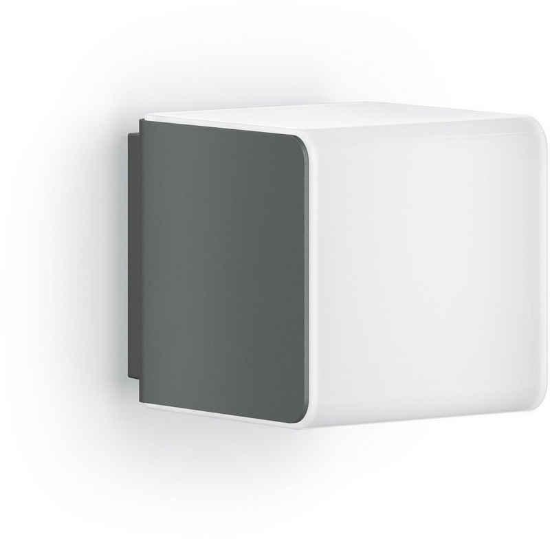 steinel LED Außen-Wandleuchte »L 830 SC«, 160° Bewegungsmelder, Smart Home, über Bluetooth vernetzbar, App-Steuerung, Up & Downlight, Silber