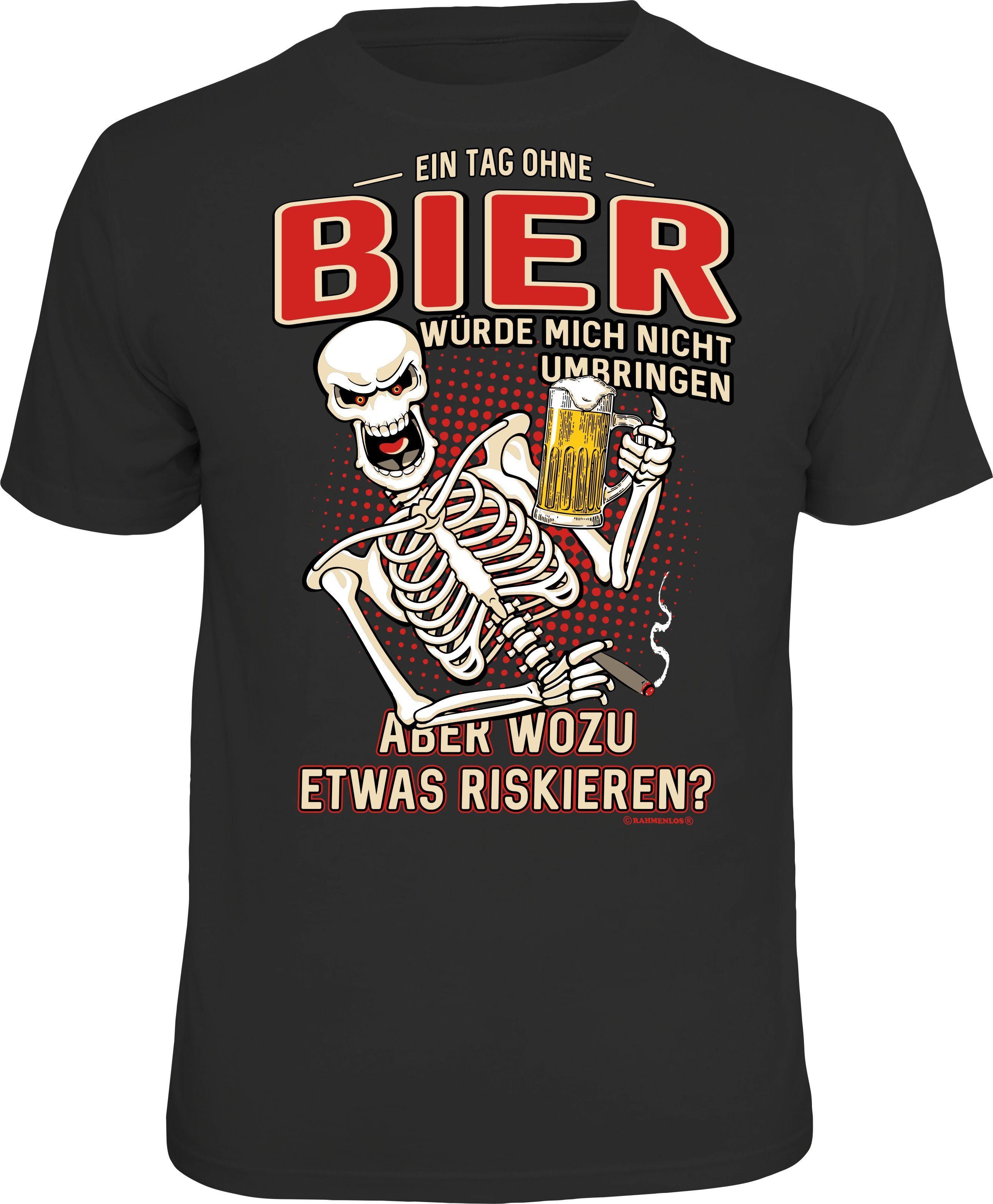 T Lustigem Mit Rahmenlos Bier shirt frontprint drhQCts