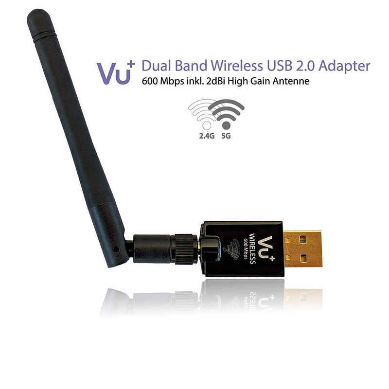 VU+ »VU+ Dual Band Wireless USB 2.0 Adapter 600 Mbps« Tuner