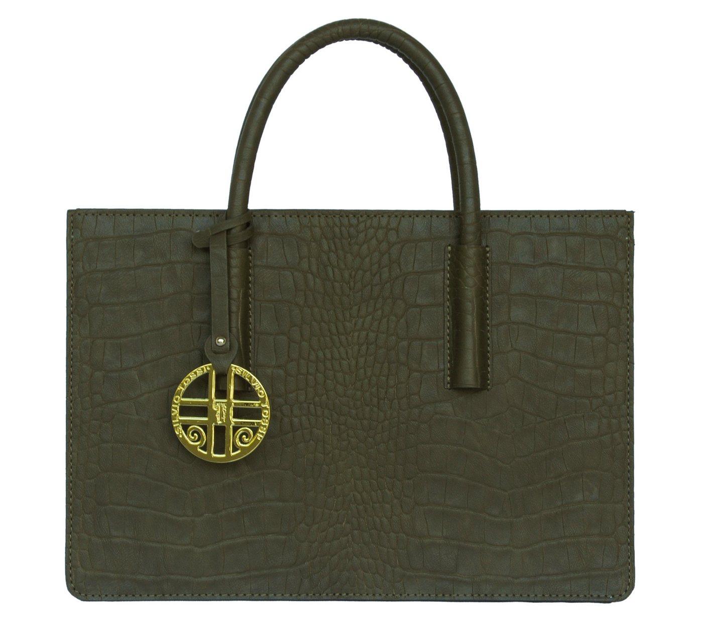 Silvio Tossi Lederhandtasche mit Spezialschutzschicht | Taschen > Handtaschen > Ledertaschen | Grün | Silvio Tossi