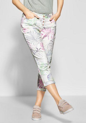Cecil 5-Pocket-Hose mit Tropical-Print