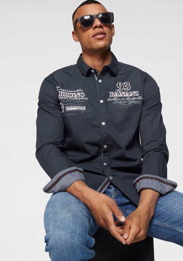 Bruno Banani Hemd hochwertig bestickt