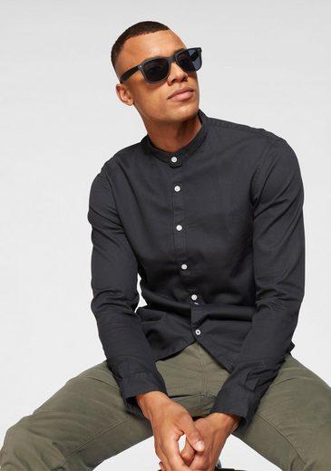 TOM TAILOR Denim Langarmhemd mit Markenbadge