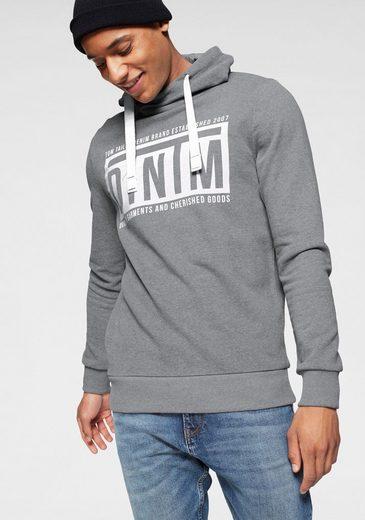 TOM TAILOR Denim Kapuzensweatshirt mit Cross-over Kragen