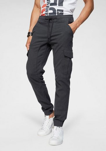 TOM TAILOR Denim Cargohose mit Kordelzug