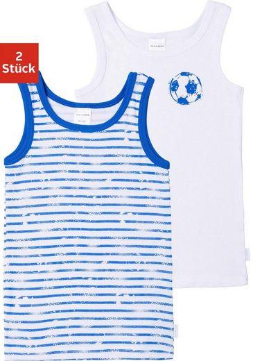 Schiesser Unterhemd (2 Stück), mit Fussball-Print