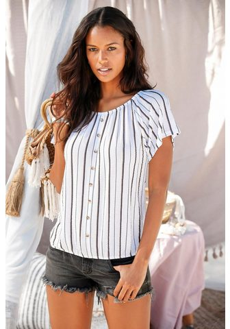 LASCANA Блуза в стиле кармен