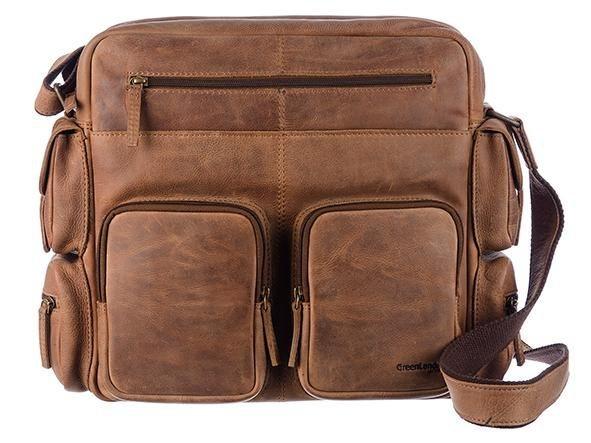 GreenLand Nature Messenger Bag »Montenegro«, aus echtem Leder mit praktischen Vortaschen | Taschen > Business Taschen > Messenger Bags | GreenLand Nature