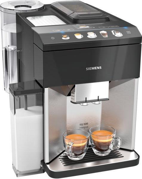 SIEMENS Kaffeevollautomat EQ.5 500 integral TQ507D03, einfache Bedienung, integrierter Milchbehälter, zwei Tassen gleichzeitig