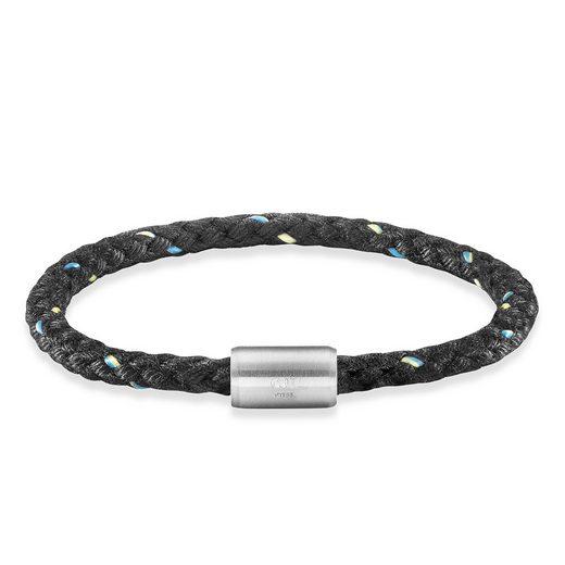 CAÏ Armband »Edelstahl Textil schwarz 23cm«