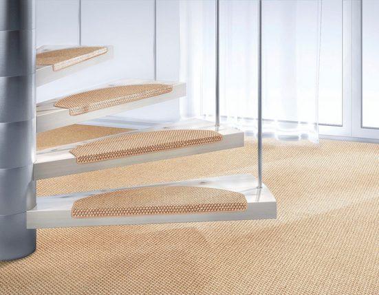 Stufenmatte »Brasil«, Dekowe, stufenförmig, Höhe 10 mm, Obermaterial: 100% Sisal, zweifarbig gewebt