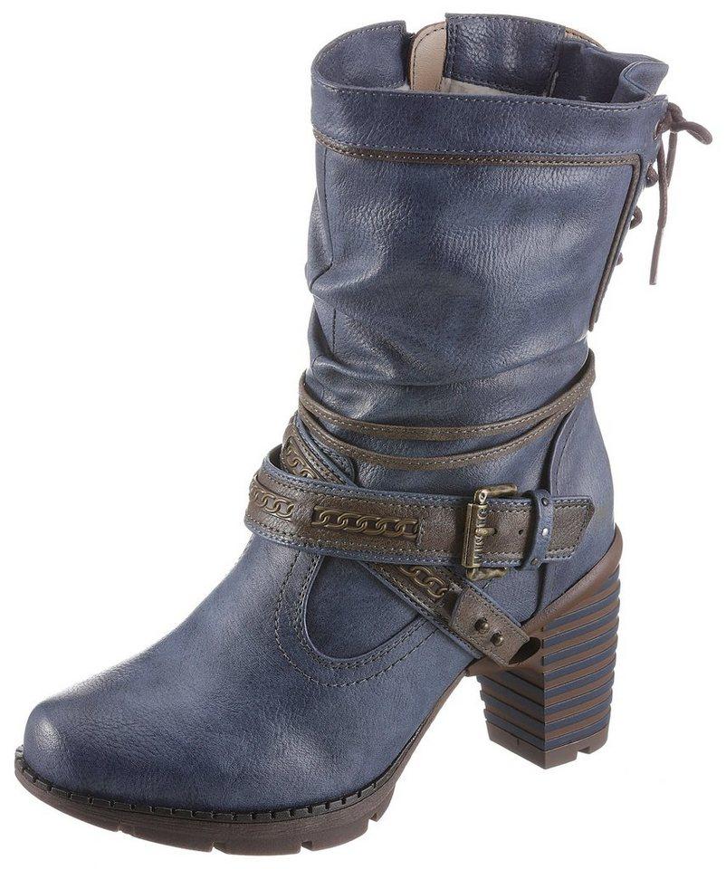quality design 88d02 c3439 Mustang Shoes Winterstiefel mit auffälligem Absatz | OTTO