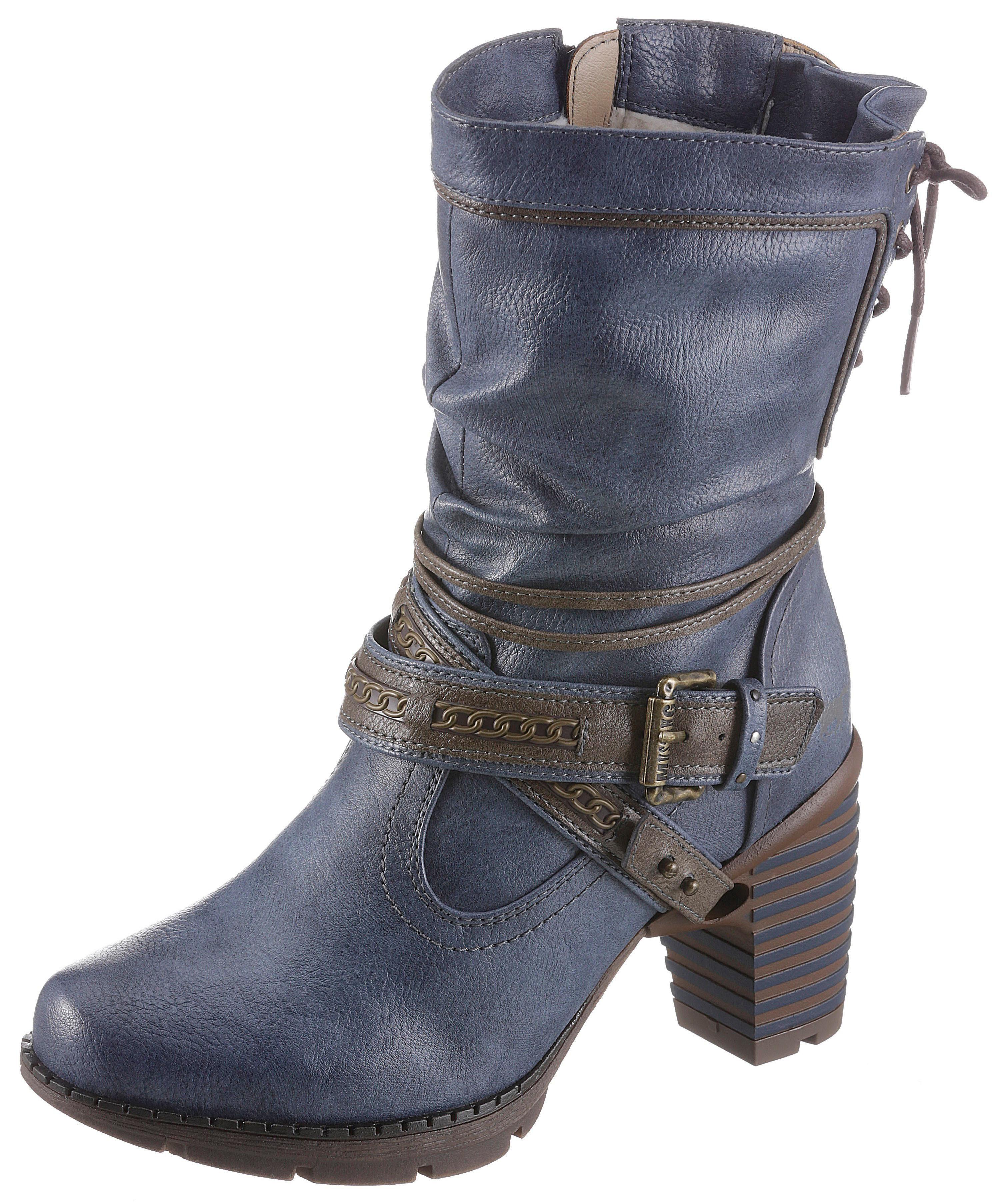 Mustang Shoes Winterstiefel mit auffälligem Absatz | OTTO