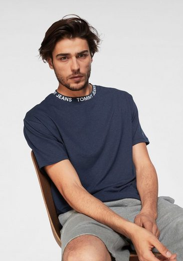 Tommy Jeans T-Shirt »TJM HEATHER BRANDED COLLAR TEE«