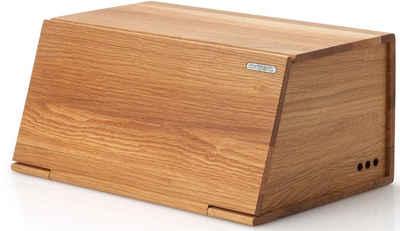 Continenta Brotkasten, Holz, (1-tlg), Aus Eichenholz gefertigt