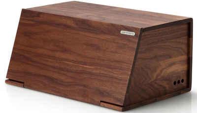 Continenta Brotkasten, Holz, (1-tlg), aus Walnussholz gefertigt