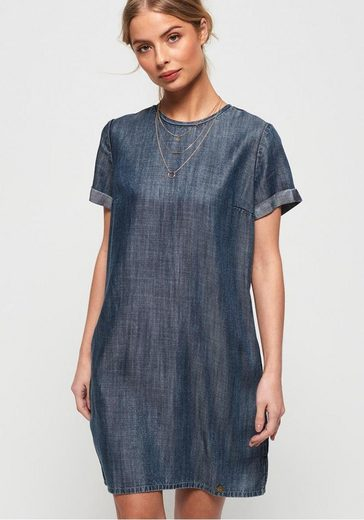 Superdry Jeanskleid »SHAY TEE DRESS« mit modischer Acid-Waschung