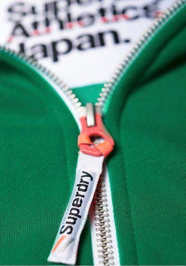 Superdry Kapuzensweatjacke »LA ATHLETIC ZIPHOOD« mit kontrastfarbenen Details