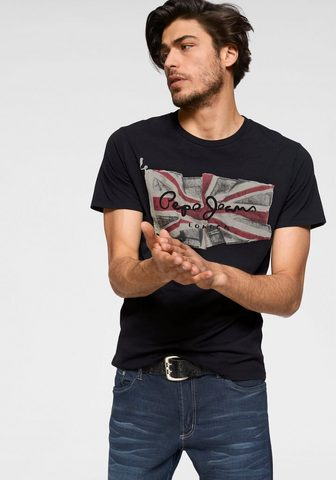 PEPE JEANS Pepe джинсы футболка »FLAG LOGO&...