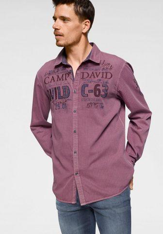 CAMP DAVID Рубашка с длинными рукавами